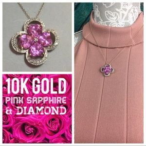 Jewelry - Pink Sapphire & Diamond Heart Necklace